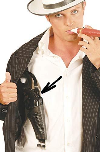 Kostüm Hunde Gangster - Erwachsenen-Pistole aus Kunststoff mit Schulterholster Gangster Cop Kostüm, Outfit, Zubehör