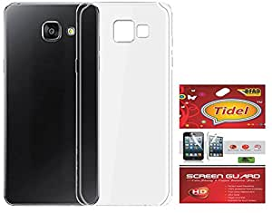 Tidel Crystal Clear Case Soft Flexible TPU Back Cover for Samsung Galaxy J7 Prime-Transparent With Tidel Screen Guard