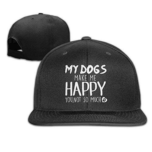 My Dog Make Me Happy You Not So Much Adjustable Baseball Cap Flat Hat for Unisex