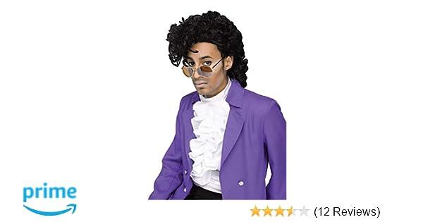 Moustache Set Wigs Tash Mens 80s 1980s Purple Rain Musician Singer Prince Wig