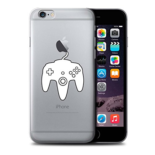 Stuff4 Hülle / Case für Apple iPhone 6+/Plus 5.5 / Schwarz Gameboy Muster / Spielsteuerung Kollektion Weiß N64