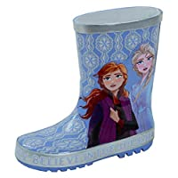 Disney Frozen 2 3D Rubber Wellington Boots Kids Elsa Anna Rain Snow Wellies