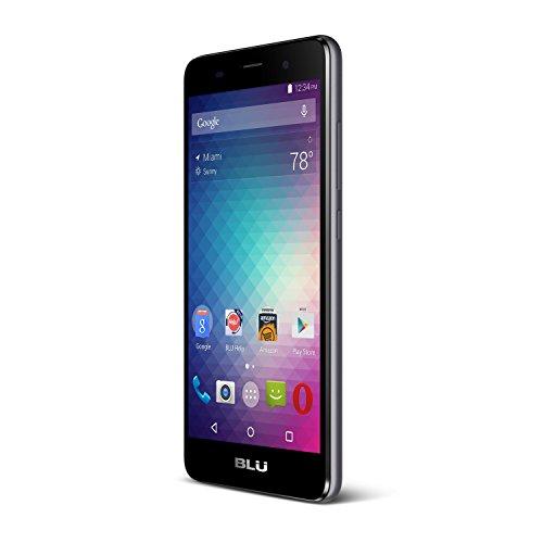 BLU Dash X2 D110U Android 6.0 Marshmallow 3G HSPA+ 8 MP Hauptkamera QuadCore Prozessor mit 8 GB internem Speicher 12,7 cm (5 Zoll) HD Display Factory entsperrt GSM Phone D110, grau