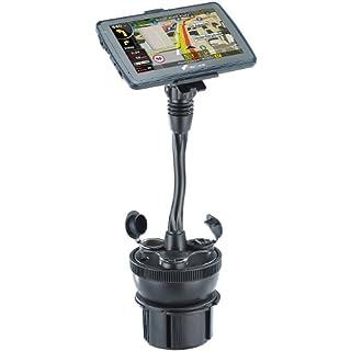 NavGear Navigation Halterung: Navi-Halterung für Kfz-Getränkehalter, mit 2 USB- & 12V-Ports (Navi Autohalterungen)