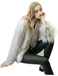 34b2793b9455ae OverDose Giacca Cappotti Cappotto Cardigan Donna Invernale Eleganti con  Pelliccia Sintetica