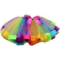 BOBORA Bambine Ragazze a Strati Arcobaleno tutù gonne Danza Partito Costumi  2-13 Anni 859ebc64d25