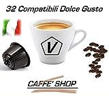 Caffè Shop Kaffeekapseln kompatibel Nescafè Dolce Gusto®, 32 Kaffeekapseln 4 Gemischte Mischungen