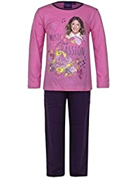 Violetta - Pyjama long enfant Violetta rose 6 ans - 6 ans,8 ans,10 ans,12 ans