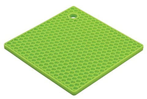 HIC Honeycomb Silicone Trivet, 7-Inch, Light Green by HIC Harold Import (Harold Import Silicone)