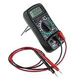 LCD multímetro digital voltímetro Amperímetro Tensión ohmimetro Tester DC/AC Negro para todos