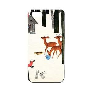 BLUEDIO Designer 3D Printed Back case cover for Apple Iphone 4 / 4S - G6381