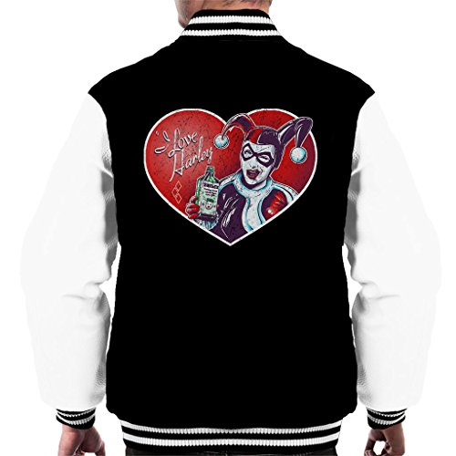 (I Love Harley Quinn Pin Up Classic Jester Outfit Men's Varsity Jacket)