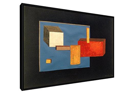 Laszlo Moholy-Nagy - Bühnenelemente - 60x40 cm - Leinwandbild mit Schattenfugenrahmen - Wand-Bild - Kunst, Gemälde, Foto, Bild auf Leinwand mit Rahmen - Alte Meister/Museum