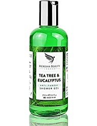 Tea Tree Oil Antifungal Soap – [Made In UK] 100% Natural | Shower Gel Body Wash | Kills Bacteria | Natural Cleanser Relieves Acne Odour Ringworm Jock Itch Nail Fungus Athlete's Foot | 250ml