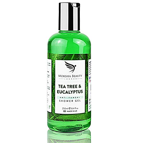 Tea Tree Oil Antifungal Soap – [Made In UK] 100% Natural | Shower Gel Body Wash | Kills Bacteria | Natural Cleanser Relieves Acne Odour Ringworm Jock Itch Nail Fungus Athlete's Foot | Soothes Dry Itchy Skin | 250ml