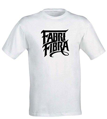 T-shirt FABRI FIBRA Fenomeno Hip Hop Rap Italiano Tradimento 10 Idea Regalo Bianco