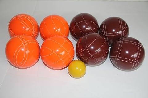 Premium Quality EPCO Tournament Bocce Set - 107mm Red and Orange Bocce Balls ...
