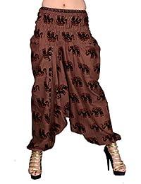 Elephant Printed Rajasthani Cotton Afghani Exclusive Trousers & Capris Pajama Indian Boho Hippie Ali Baba Baggy...