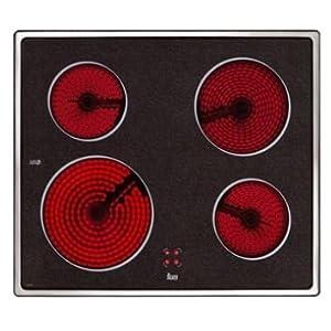 Teka VTC B Negro Integrado Cerámico – Placa (Negro, Integrado, Cerámico, 6300 W, 230 V, 50 – 60 Hz)