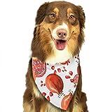 Hipiyoled Гранатовый фруктовый узор стильный милый смешная вечеринка девушки парни собака бандана модно