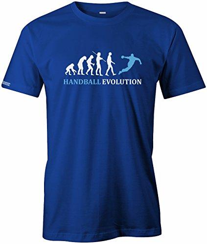 Handballl Evolution - Sport - Herren T-Shirt Royalblau