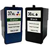 Set of 2 Remanufactured Lexmark 2 & 3 Ink Cartridge For Printer X3650 X4650 X5650 X6650 Z2420 X3630 X4630 Z2400 Z2410 X6675