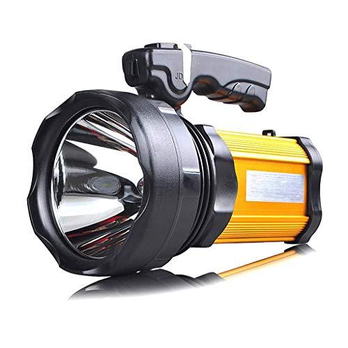 ZXM Ampia gamma di torce a luce forte Ricarica luminosa Super Bright Proiettore portatile multifunzione con luce laterale, 1200 lumen (Color : Yellow light)