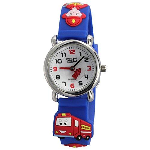 Teenie UW953B Kinder–Armbanduhr, Kautschukband blau