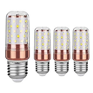 Gezee LED Corn Bulbs 12Watt 3000K Warm White 100W Incandescent Bulbs Equivalent E27 Base 1200Lumens Non dimmable Small Edison Screw Appliance Light Bulb Cylindrical Lamps (4 Packs)