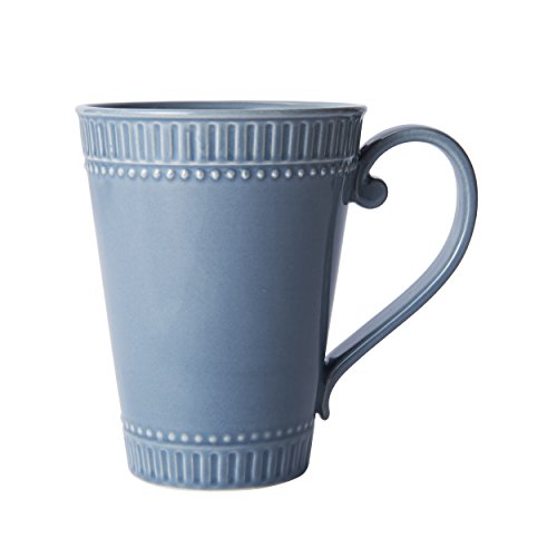 Mikasa Italian Countryside Accents Coffee Mug, Fluted Blue - Blue Fluted
