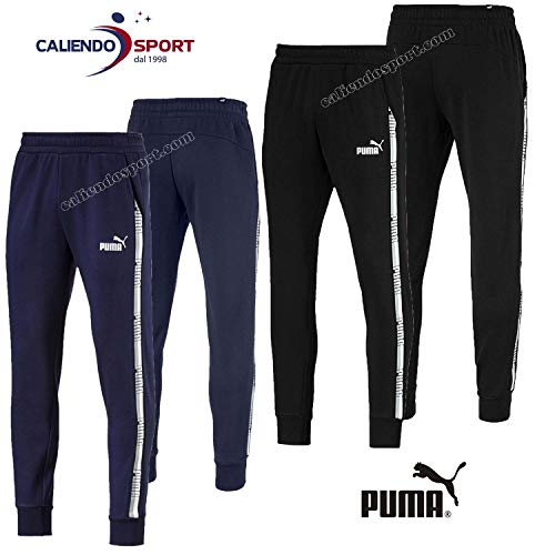 Puma Tape Pants, Hombre, Cotton Black, L