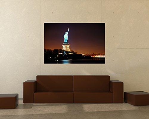 Bilderdepot24 Papier Peint intissé Statue de la Liberté, New York City 100x65 cm - pâte Inclus - Vente directe Fabricant!