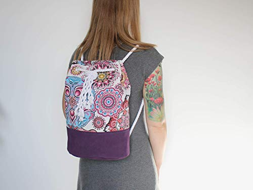 Rucksack mit Mandala Muster - 4