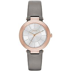 DKNY NY2296 - Reloj de cuarzo con correa de acero inoxidable para mujer, color blanco