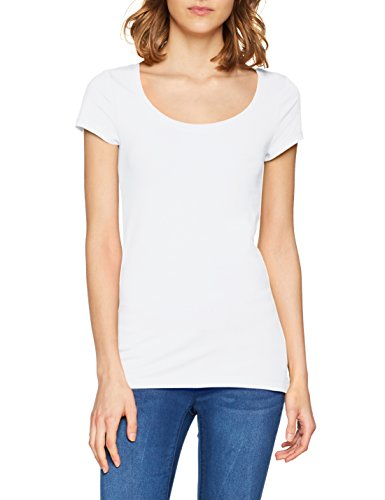 Q/S designed by - s.Oliver Damen T-Shirt 45.899.32.0472, Weiß (White 0100), Small