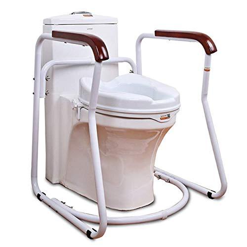 MILECN Badezimmer WC-Sicherheitsrahmen, Schienensicherheitsrahmen mit Handlauf, für ältere Menschen, Behinderte und Behinderten-WC-Unterstützung