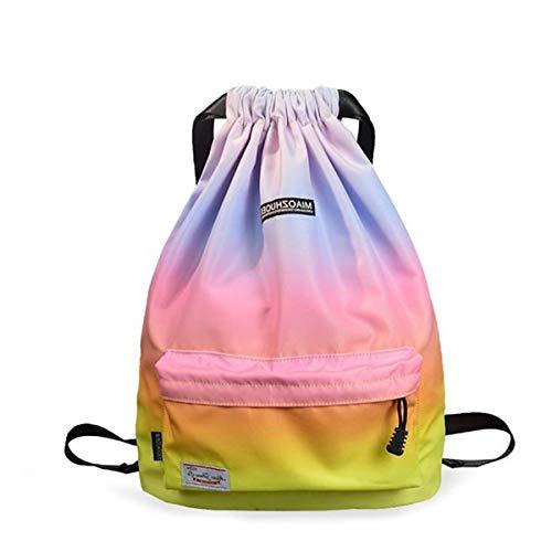 f03281549b17 Risefit Waterproof Drawstring Bags, Printed Gym Bags Sports Backpacks for  Shopping Yoga for Men Women Girls Students