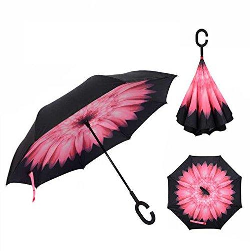 Cisixin Paraguas inversa Paraguas Doble El paraguas