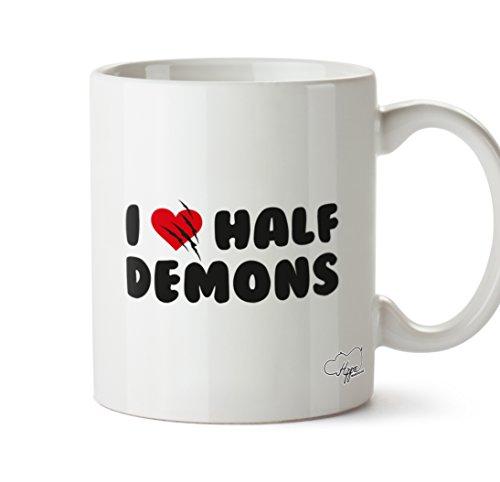 Hippowarehouse I Love Demi Demons 283,5gram Mug Cup, Céramique, blanc, One Size (10oz)