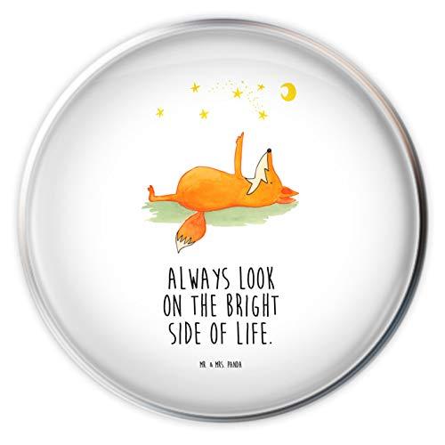 Mr. & Mrs. Panda Waschbecken, Stöpsel, Waschbecken Stöpsel Fuchs Sterne mit Spruch - Farbe Weiß