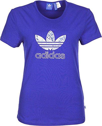 Adidas originals–maglietta da donna slim tee blau 40