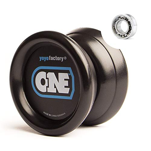 YoyoFactory One Yo-yo - Negro (De Principiante a Profesional, Cuerda e Instrucciones Incluidas)