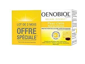 Oenobiol Solaire Intensif Nutriprotection Peaux Claires Lot de 2 x 30 Capsules