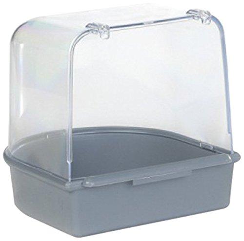 Beeztees 75084 Badehaus aus Plastik, 13 x 13 x 13 cm, grau