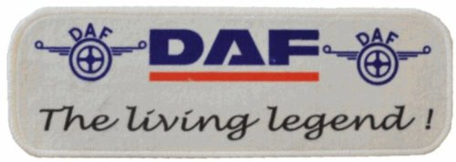 Tischläufer mit Logo DAF Legend, 60x20cm Waschbar Feines Velours Universell einsetzbar | LKW-Tischablage, Teppich zur Innenausstattung | Schmutzfänger für LKW, PKW und Wohnung | Universal Auto-Matte, Autofußmatte als Zubehör fürs Truck-Fahrerhaus