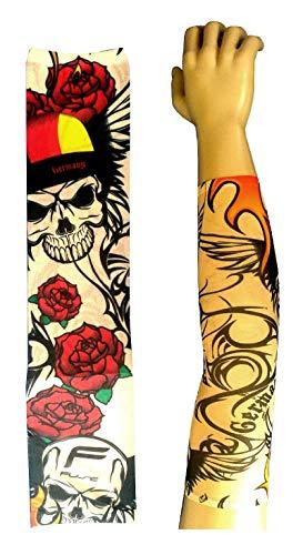 Inception Pro Infinite Modell W59 - Tattoo Sleeve - Wearable - Sleeve - Faux Tattoo - Bild - Pink - Skelett - Totenköpfe - Schrift - Tatoo - Halbes Ärmel - Tribal