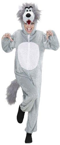 Widmann 9966C - Erwachsenenkostüm Wolf, Overall mit Maske, Größe XL