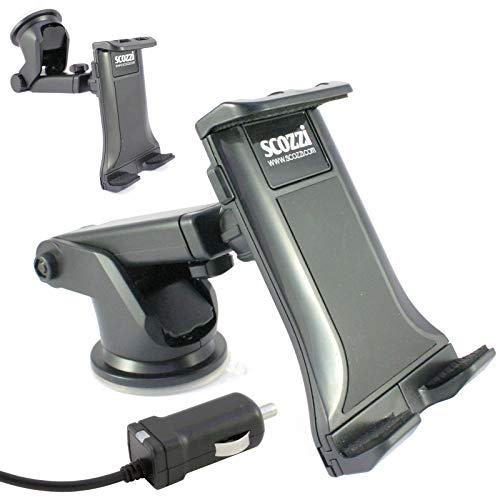 scozzi 360° KFZ Auto Handy Halter Halterung + USB TYP C Schnell-Ladekabel mit 2400mAh (Phantom Mod 2) Windschutzscheibe & Armaturenbrett