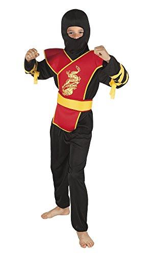 Ninja roter Drache Lee Kinderkostüm (7-9J)