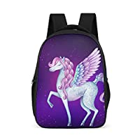 Dofeely Unicorn Pattern School Backpacks Laptop School Bag Backpack Girls Gym Bag for Travel Travelite 32 x 18 x 42 cm